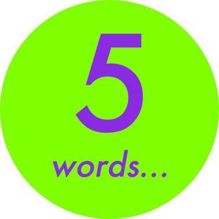 5 слов на английском